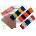 Multi-coloured Cricket Bat Toe Guard Kit