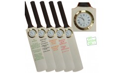 Miniature Cricket Bat with Clock