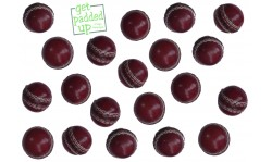 Mini Miniature Leather Cricket Balls (Pack of 3)