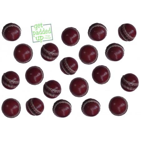Mini Miniature Leather Cricket Balls (Pack of 3)