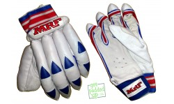 MRF League Red Cricket Batting Gloves (Youth)