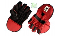 CA Sports Somo Cricket Wicket Keeping Gloves (Red/Black)
