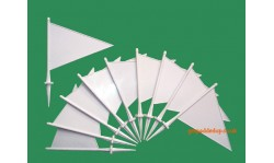 10 White Cricket Boundary Flags