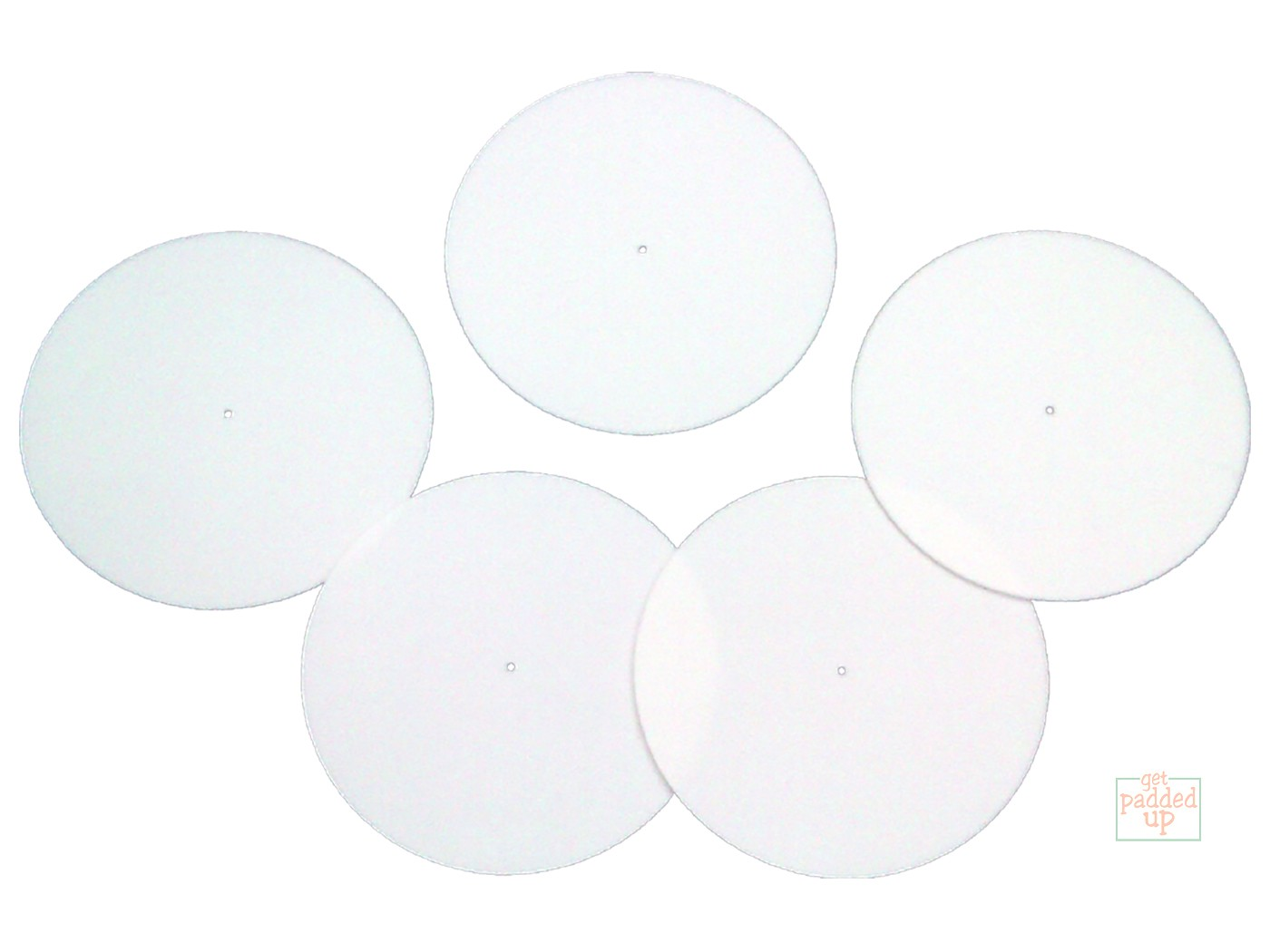 5 White Cricket Fielding Circle Marker Discs