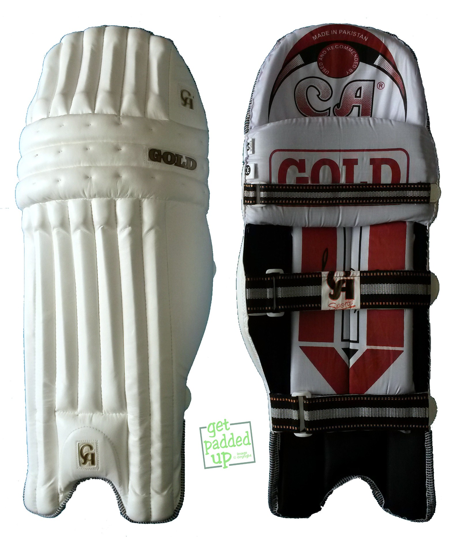 CA Sports Gold Cricket Batting Pads (Boys)