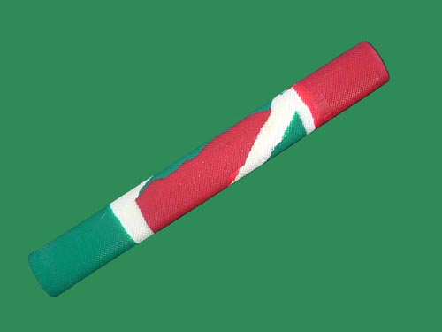 BDM MULTI-COLOUR DESIGN CRICKET BAT GRIP (RED/GREEN)