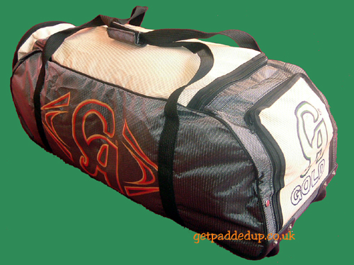 CA Sports GOLD WHEELER CRICKET KIT BAG (BLACK/SILVER)
