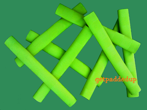 getpaddedup CHEVRON CRICKET BAT GRIP (NEON / FLUORO LIME GREEN)
