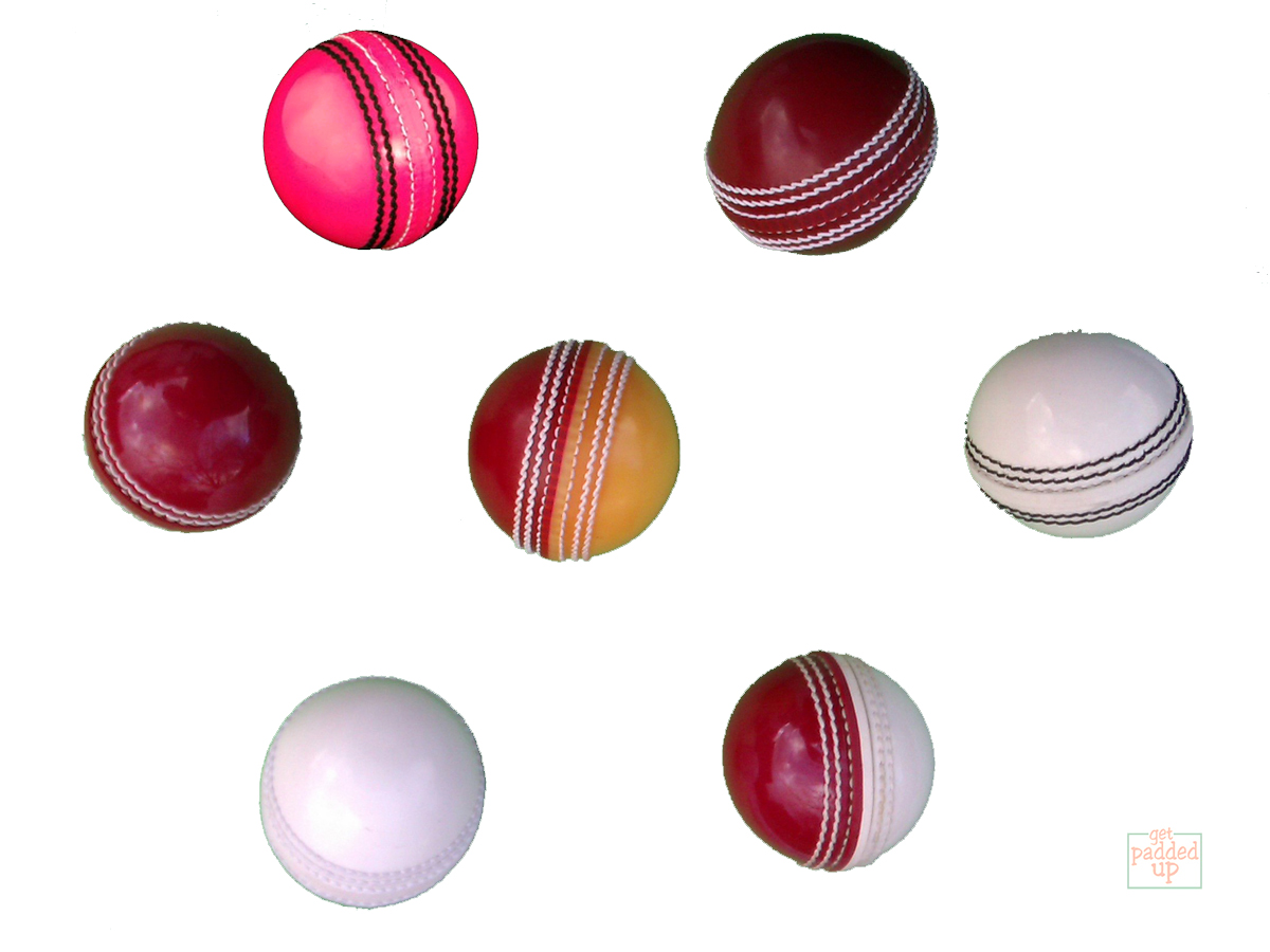 getpaddedup-PRACTICE-TRAINING-CRICKET-BALLS-Red-White-Yellow-Pink-Adult-Youth