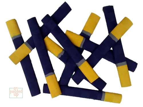 getpaddedup CHEVRON CRICKET BAT GRIP (NAVY / SILVER / YELLOW)