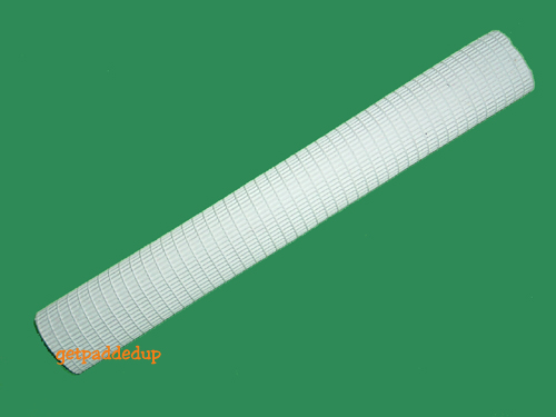 getpaddedup RIBBED CRICKET BAT GRIP (WHITE)