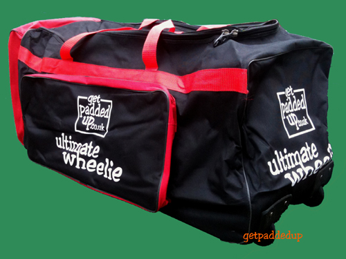 getpaddedup ULTIMATE WHEELIE CRICKET KIT BAG (BLACK/RED)