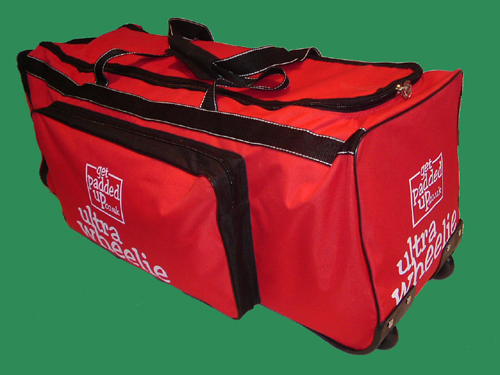 getpaddedup ULTRA WHEELIE CRICKET KIT BAG (RED/BLACK)