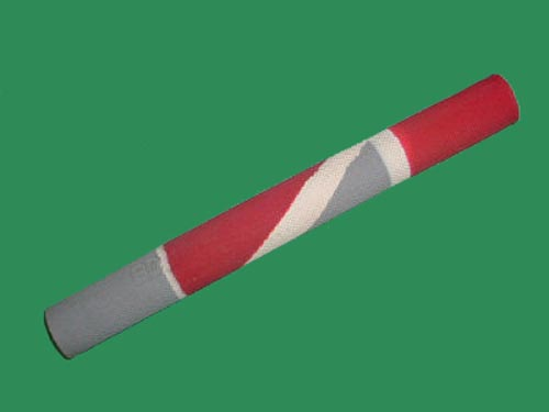 BDM MULTI-COLOUR DESIGN CRICKET BAT GRIP (GREY/RED)