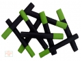 getpaddedup SCALE/SNAKE CRICKET BAT GRIP (BLACK/LIME GREEN)