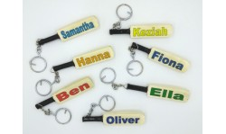 """Your Name"" Mini Miniature Cricket Bat Keyring"