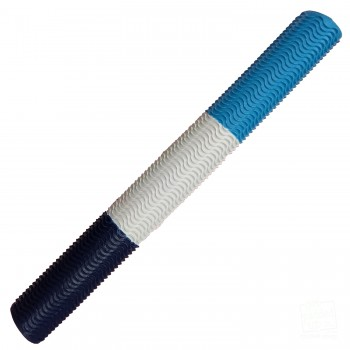 Navy Blue / White / Sky Blue Aqua Wave Cricket Bat Grip