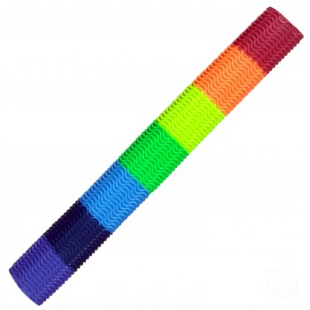 Rainbow Colours Aqua Wave Cricket Bat Grip