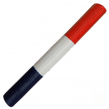 Red / White / Navy Blue Aqua Wave Cricket Bat Grip