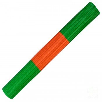 Lime Green / Orange Aqua Wave Cricket Bat Grip