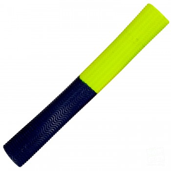Neon Yellow / Navy Blue Aqua Wave Cricket Bat Grip