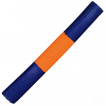 Metallic Blue / Orange Aqua Wave Cricket Bat Grip