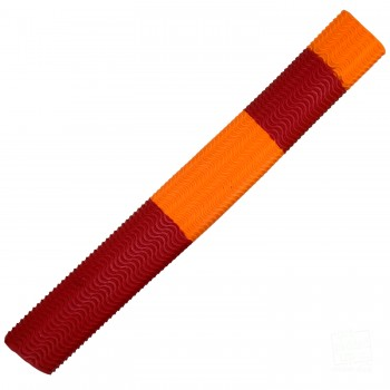 Red / Orange Aqua Wave Cricket Bat Grip