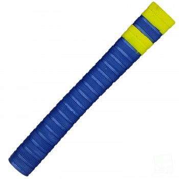 Metallic Blue with Yellow Bands Players Matrix Cricket Bat Grip