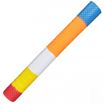 Red, Yellow, White, Orange, Blue Penta Cricket Bat Grip