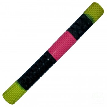 Neon Yellow / Black / Neon Pink Penta Cricket Bat Grip