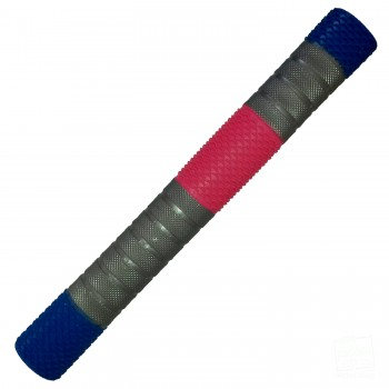 Royal Blue, Silver, Neon Pink Penta Cricket Bat Grip