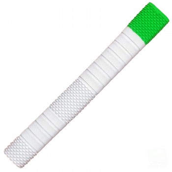 White with Lime Green Penta Cricket Bat Grip