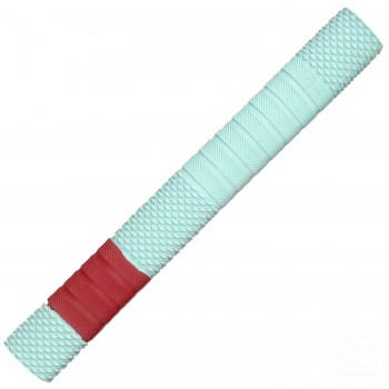 White with Red Penta Cricket Bat Grip