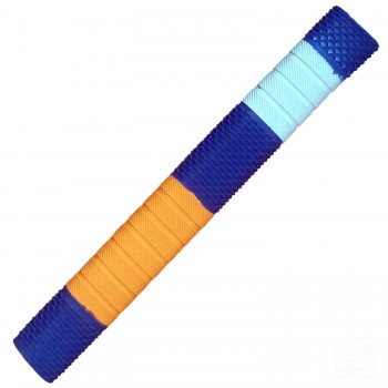 Navy Blue / Orange / White Penta Cricket Bat Grip