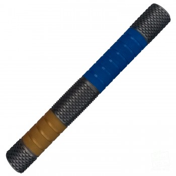 Silver / Royal Blue / Gold Penta Cricket Bat Grip