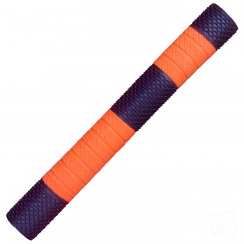 Gunmetal and Orange Penta Cricket Bat Grip