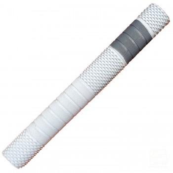 White with Silver Penta Cricket Bat Grip
