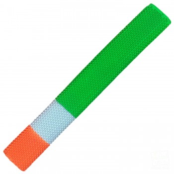Green, White, Orange Octopus Cricket Bat Grip