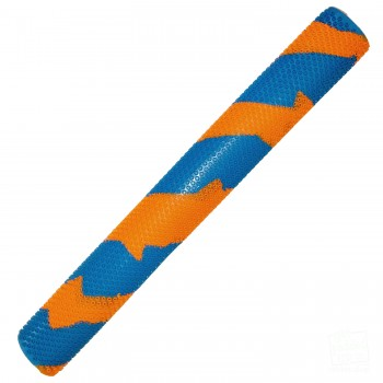 Orange and Sky Blue Octopus Splash-Spiral Cricket Bat Grip