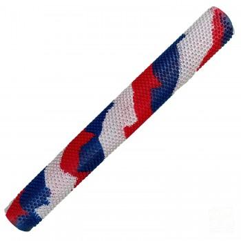 Red / White / Blue Octopus Splash-Spiral Cricket Bat Grip
