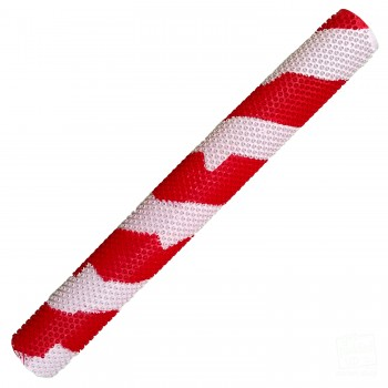 Red / White Octopus Splash-Spiral Cricket Bat Grip