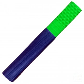 Navy Blue and Lime Green Trio Cricket Bat Grip