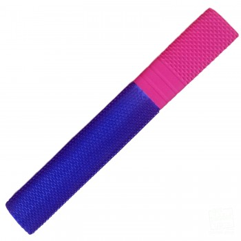 Navy Blue and Neon Pink Trio Cricket Bat Grip