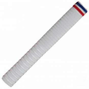 White with Blue and Red Dynamite Cricket Bat Grip