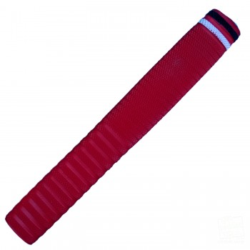 Red with White and Black Dynamite Cricket Bat Grip