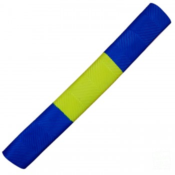 Royal Blue and Yellow Chevron Cricket Bat Grip