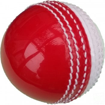 Red and White Practice Coaching Cricket Ball