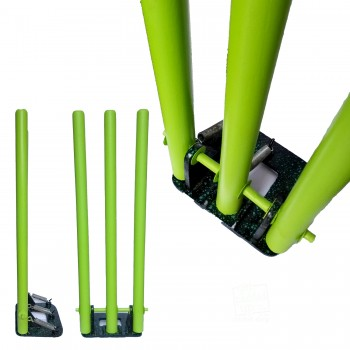 Coloured Spring Back Cricket Stumps, Lime Green