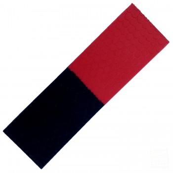 Red and Black Half-n-Half Cricket Bat Toe Guard