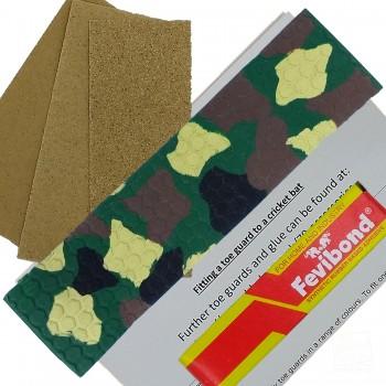Army Camouflage Cricket Bat Toe Guard Kit